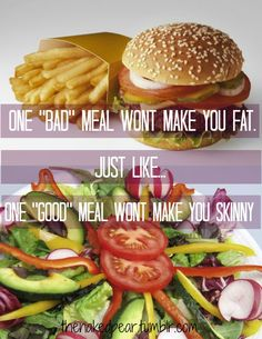 One meal doesn't make or break your diet - it is consistency....but it still feels like it does  :/