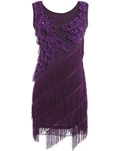 Short Women's 1920s Cocktail Dress Prom Plus Size