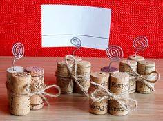 Wine Cork Place Card Holder