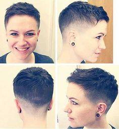 Super-Kurze Haare Ideen auf Hübsche Damen //  #Damen #Haare #Hübsche #Ideen #SuperKurze