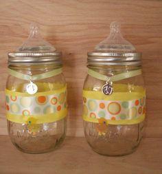 Baby shower Mason Jar favor by Masonbottles on Etsy, $10.00