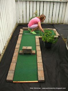 Home made miniature golf hole #golfequipment