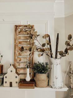 Antique Farmhouse, Farmhouse Decor, Farmhouse Style, Crib Spring, Vintage Mantle, Mantle Styling, Apartment Makeover, Antique Decor, Nursery Room Decor