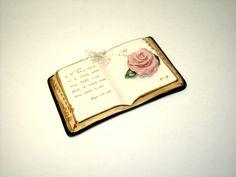 Porcelain Book Vintage Collectible Bible Verse by AuntJennysAttic