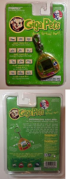 Giga Pets 158701: Giga Pets Cyber Kitty Tiger Electronics Kfc Virtual Pet 21997 New In Package -> BUY IT NOW ONLY: $32 on eBay!