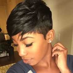 STYLIST FEATURE| Loving this edgy #pixiecut✂️ done by #AtlantaStylist @HairExclusive on @teqnical_styles❤️ This cut is FIERCE #VoiceOfHair