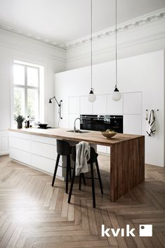 17 ideas wood kitchen design home decor for 2019 Kitchen Tiles, Kitchen Colors, Kitchen Flooring, Kitchen Countertops, Kitchen Furniture, Kitchen Interior, New Kitchen, Kitchen White, Kitchen Wood