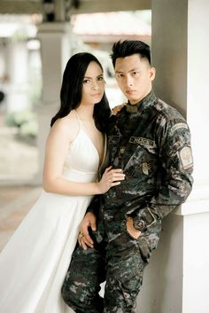 military themed engagement shoot #prenup # engagementshoot #militarywedding #wedding Police Wedding, Military Wedding, Prenup Photos Ideas, Wedding Photos, Wedding Ideas, Bridesmaid Dresses, Wedding Dresses, Engagement Shoots, Relationships