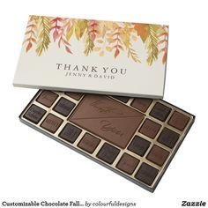 Customizable Chocolate Fall Wedding Thank You