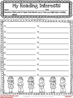 Freebie! This resource includes a lesson for both reading and writing workshops, as well as a printable graphic organizer and thinkmark.  Get to know your students' reading and writing interests with this great resource!