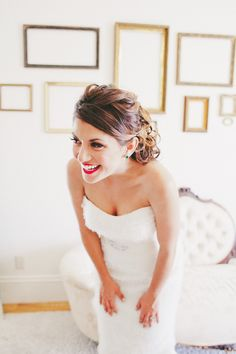 Oh happy day! #Bride |   See more on #SMP Weddings -  http://www.stylemepretty.com/2013/12/20/rustic-olympias-valley-wedding/  One Love Photography