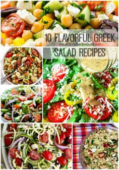 10 Flavorful Greek Salad Recipes with variations and pasta and chicken as well as a salad dressing. Advertisement - Continue below Avocado greek salad Healthy greek salad Super easy homemade greek dressing Cucumber greek salad Chopped greek salad Chopped Kale Quinoa and Avocado Salad Join us on Facebook! A greek zoodle salad Greek quinoa salad …