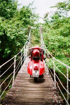 #red #Vespa #scooter #adventure by #vespagram