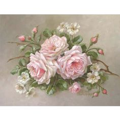 Christie Repasy La Belle Roses Canvas Giclee in Pink - http://www.thebellacottage.com/christie-repasy-la-belle-roses-canvas-giclee-in-pink.html