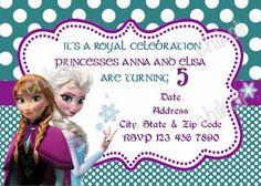 Disney Frozen Movie Birthday Party Invitation by PrettyPaperPixels