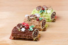 Bûches de Noël / Yule logs in miniature