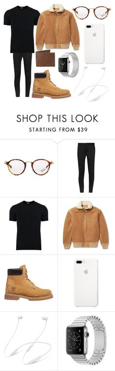 """""""Kylie"""" by vejacomotenpovoa ❤ liked on Polyvore featuring Ray-Ban, Lanvin, Dolce&Gabbana, Cav Empt, Timberland, Levi's, men's fashion and menswear"""