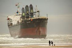 stranded ship. Get it out of there.