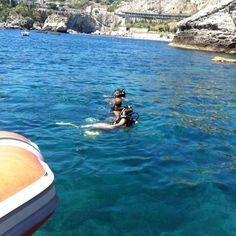La prima immersione del mare da mio figlio Angelino;-)