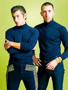 Alex Turner and Miles Kane The Last Shadow Puppets Alex Turner, Arctic Monkeys, Music Love, Good Music, Monkey 3, The Last Shadow Puppets, Babe, Grey Turtleneck, Turtle Neck