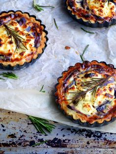 French lavender, red onion, and goat cheese tarts