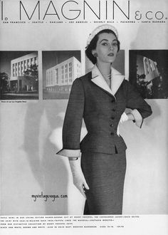 my vintage vogue (Dovima Moda Vintage, Vintage Vogue, Style Vintage, Vintage Beauty, Vintage Ads, Vintage Dresses, Vintage Outfits, 1950s Dresses, Vintage Glamour