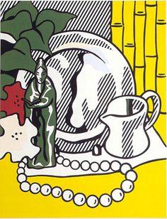 Roy Lichtenstein - Still Life with Figurine, 1974, 46 11/16 x 37 11/16