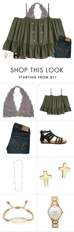 """""""watching macgyver"""" by secfashion13 ❤ liked on Polyvore featuring Hollister Co., Kendra Scott, Bloomingdale's and Kate Spade"""