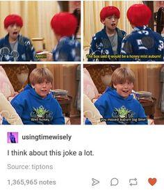 The Suite Life of Zack & Cody xD Stupid Funny, Funny Cute, Haha Funny, Really Funny, Funny Memes, Funny Stuff, Funny Things, Disney Pixar, Disney Memes