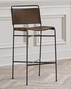 Shop designer bar stools, bar carts & bar cabinets at Neiman Marcus. Entertain in style with unique bar seating and storage. Leather Bar Stools, Leather Dining Chairs, Metal Chairs, Cool Chairs, Bar Chairs, High Chairs, Eames Chairs, Lounge Chairs, Desk Chairs
