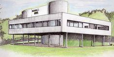 ✦ 'villa savoye' - le corbusier - urban sketchers argentina