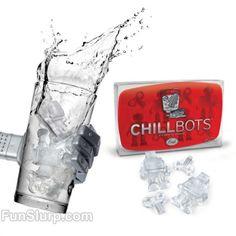 Chillbots Ice Molds | FunSlurp $6.95 - Plex Robot ice cubes?