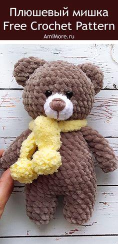 Afghan Crochet Patterns, Knitting Patterns, Crochet Gifts, Free Crochet, Bear Toy, Teddy Bear, Amigurumi Doll Pattern, Doll Patterns Free, Crochet Rabbit