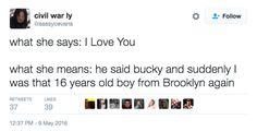 "On true love:   26 ""Captain America: Civil War"" Tweets Guaranteed To Make You Laugh"