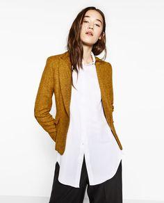 f3782a04 ZARA - WOMAN - BLAZER WITH ELBOW PATCHES Grunge, Corporate Style, Zara  Portugal,