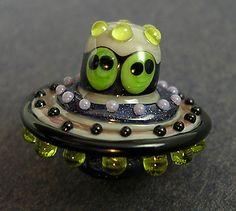 Lampwork Handmade Beads Halloween, christmas, sra,