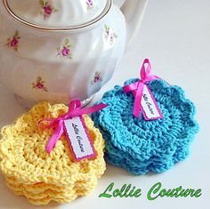 Turquoise Coffee Coasters  Office Gift  Teacher by lolliecouture, $10.50