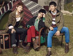 JYJ and Min Hyo Rin for NII Fall/Winter 2011 Catalogue
