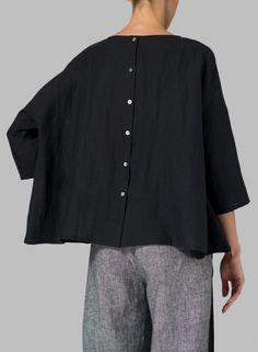 MISSY Clothing - Linen Dropped Shoulder Long Top