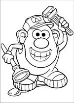 Mr Potato Head Coloring Page Free Printable Coloring Pages - HD 900×1240