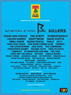 T in the Park 2013 - making plans for the festival season.