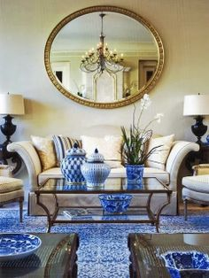 Love the ginger jars! South Shore Decorating Blog: Weekend Roomspiration #10
