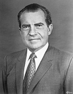 Photo of Richard Nixon.- met him at LAX when he was running for President