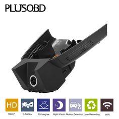 PLUSOBD Special Car DVR For GLK X204 Full HD 1080P Dash Cam G-Sensor Night Vision Hidden Design Wifi Camera With Aluminium Alloy #Affiliate