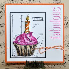 Cupcake Break by Richele Christensen for the Simon Says Stamp Blog.  July 2014