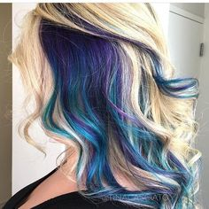 """4,050 Likes, 33 Comments - Dope Hair Beehash Boston (@imallaboutdahair) on Instagram: """"Peek a boo ...I see blue @tinacasciato"""""""