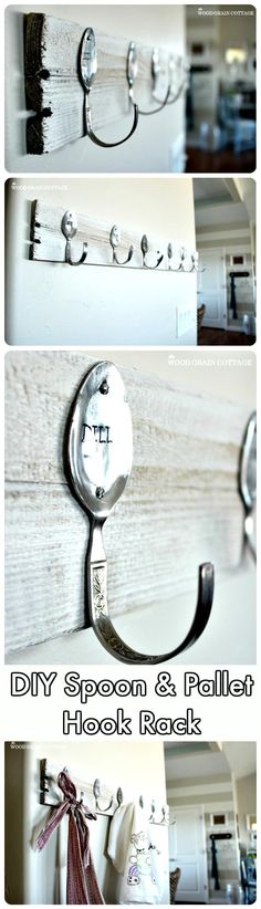 DIY Easy Spoon Pallet Hook Rack - 150 Best DIY Pallet Projects and Pallet Furniture Crafts - Page 61 of 75 - DIY & Crafts