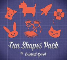 Fun Shapes Pack A collection of fun shapes by Crickett-Grrrl. Shapes, Graphic Design, Fun, Inspiration, Biblical Inspiration, Visual Communication, Inspirational, Inhalation, Hilarious