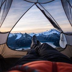 Early morning view of Panorama Ridge at Garibaldi Lake, British Columbia.