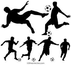 Soccer Player Silhouette Free Vector by on DeviantArt Soccer Birthday Cakes, Soccer Cake, Soccer Theme, Soccer Pro, Soccer Boys, Soccer Players, Life Soccer, Soccer Decor, Soccer Stuff